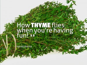 How thyme flies