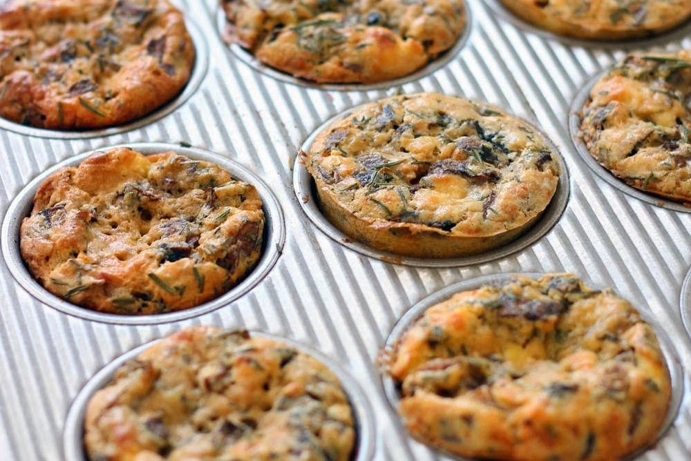 Mini-Mushroom-Goat-Cheese-and-Rosemary-Quiches-by-BowlofDeliciou