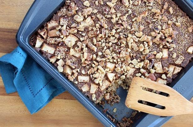 Vegan Quinoa Breakfast Bake by Fannetasticfood.com