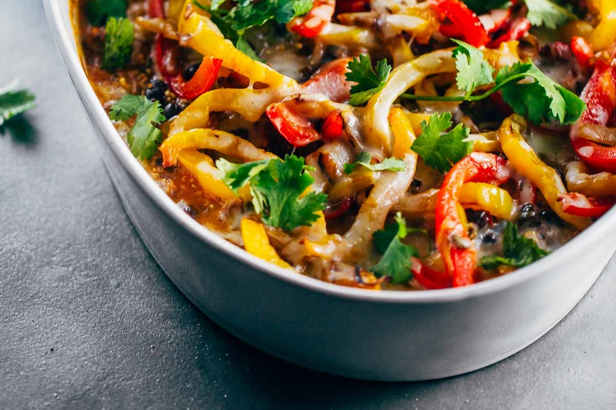 Mexican-Chicken-Quinoa-Casserole-Pinch-Of-Yum