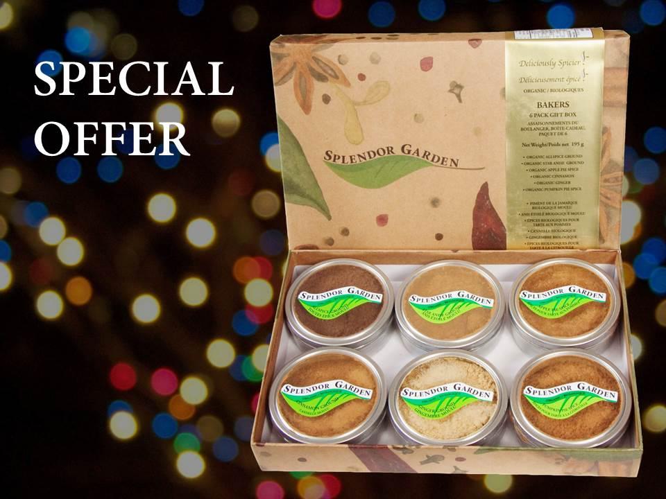 Baker's 6pk Spice Sampler Special Offer - Splendor Garden