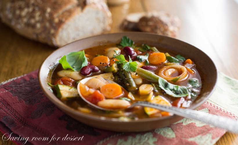 Chunky Vegetable Soup With Smoked Paprika by Saving Room For Dessert