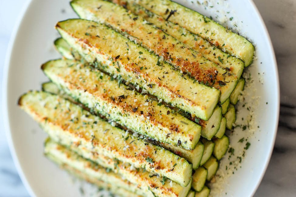 Baked Parmesan Zucchini by DamnDelicious