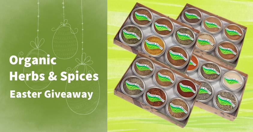 Splendor Garden Organic Herbs and Spice Easter Giveaway