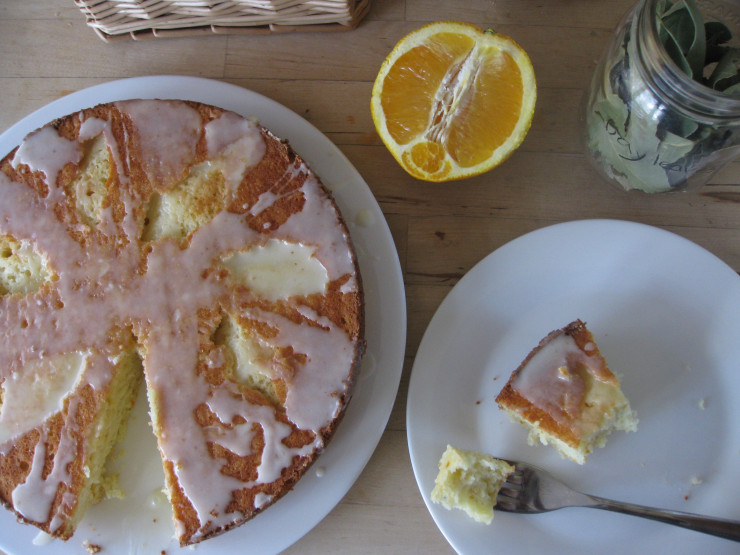 orange and bay leaf pound cake by One Wooden Spoon