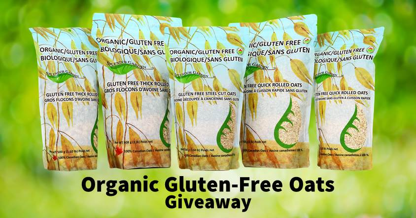 Splendor Garden organic gluten-free oats giveaway