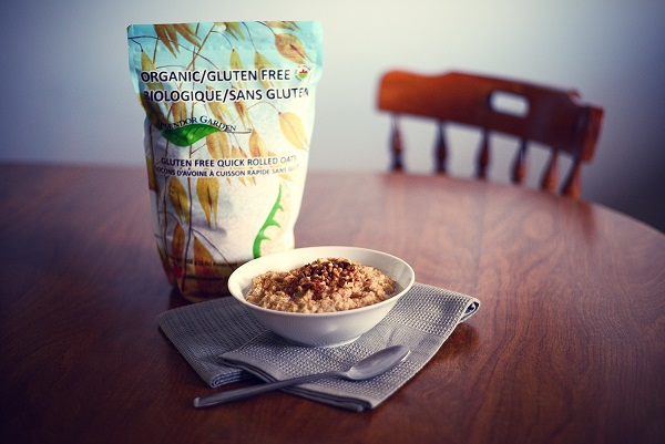 Splendor Garden Organic Gluten-free Oatmeal for breakfast